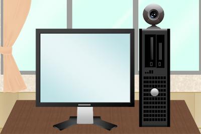 パソコンとWEBカメラ
