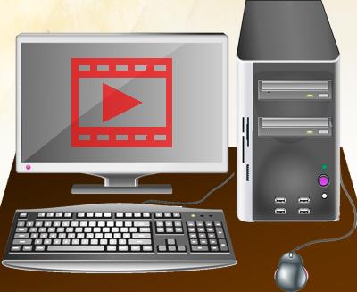 動画再生するパソコン