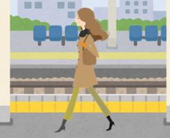 通勤する女性3