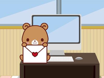 メールを運ぶクマ