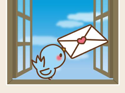 メールを運ぶ鳥