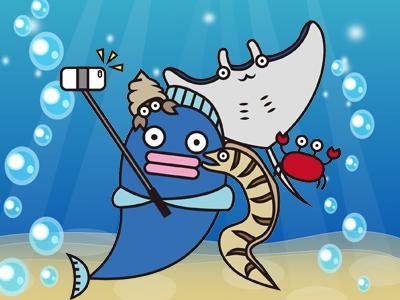 自撮りする魚たち
