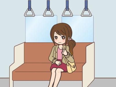 通勤する女性6
